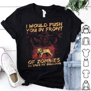 Original Halloween Zombies Save My Bulldog Dog For Men, Women & Kids shirt