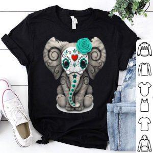 Original Sugar Skull Elephant Day Of The Dead Halloween shirt