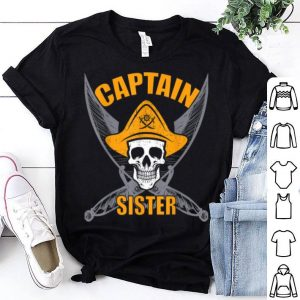 Pirate Captain Sister Funny Halloween Party Costume Gift shirt