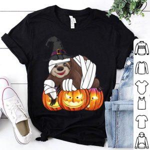 Sloth Happy Halloween Cute Mummy Witch Boys Kids shirt