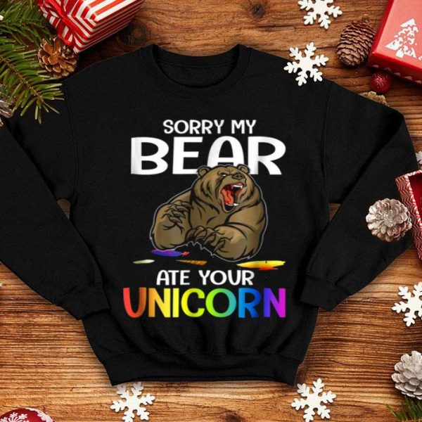 Sorry My Bear Ate Your Unicorn Funny Halloween Costume shirt
