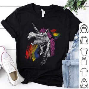 Unicorn Zombie Design Goth Halloween shirt