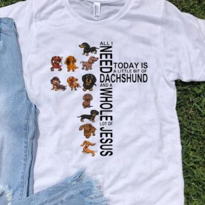 All I Need Is A Little Bit Of Dachshund And A Whole Lot Of Jesus shirt