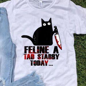 Black Murderous Cat Feline A Tad Stabby Today Cat Lover shirt