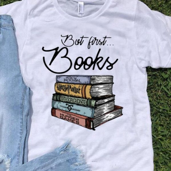 But First Books Percy Jackson Harry Potter shirt