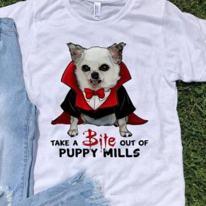 Chihuahua Take A Bite Out Of Puppy Mills Dracula Dog Costume shirt