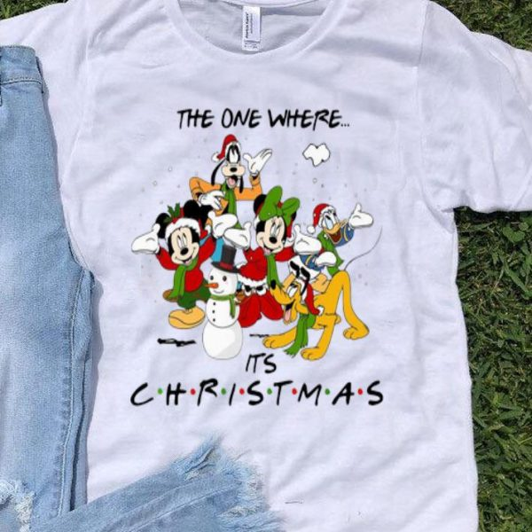 Disney Cartoon Characters The One Where It's Christmas shirt