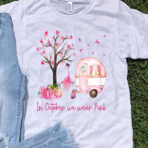 Flamingo In October We Wear Pink Breast Cancer Awareness shirt
