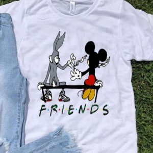 Friends Rabbit And Mickey Smoking Weed shirt