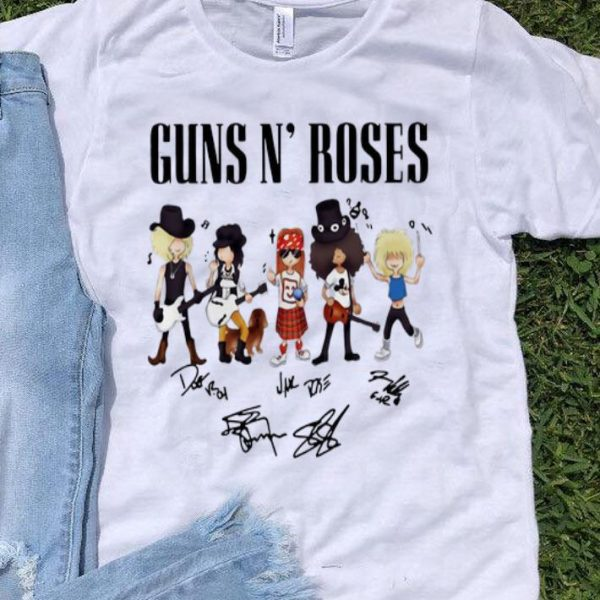 Guns N' Roses Hard Rock Band Signatures shirt