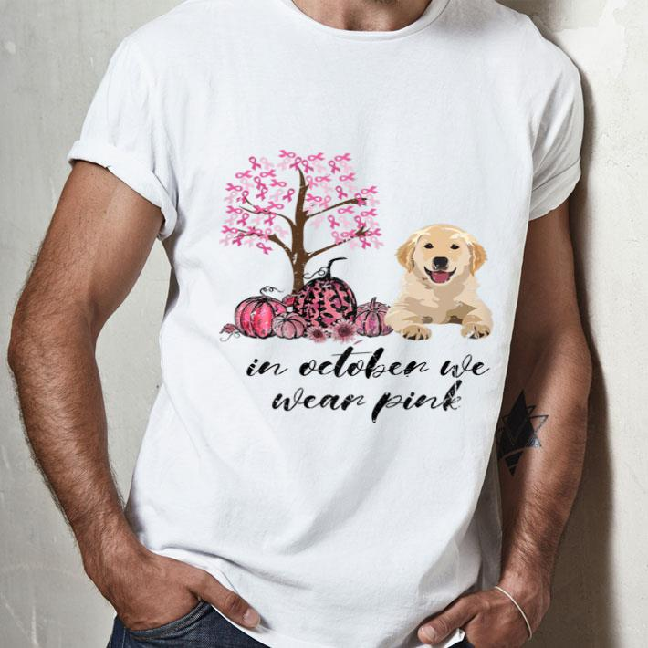 Cane Corso In October We Wear Pink Breast Cancer Awareness T Shirt Dog Lovers T-Shirt