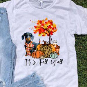 It's Fall Y'all Dachshund Autumn Dog Pumpkin shirt