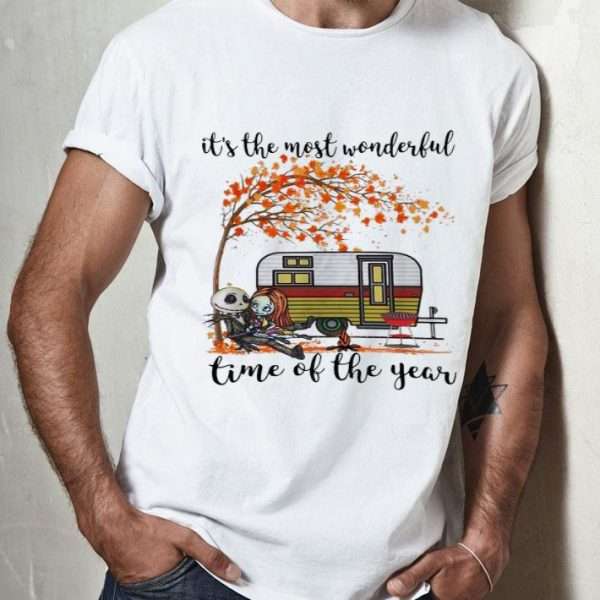 Jack Skellington And Sally It's The Most Wonderful Time Autumn shirt