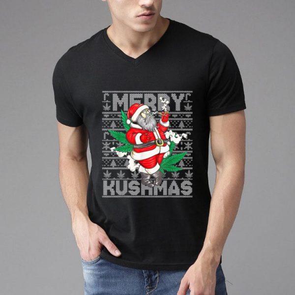 Marijuana Santa Merry Kushmas Cannabis Ugly Christmas Weed shirt