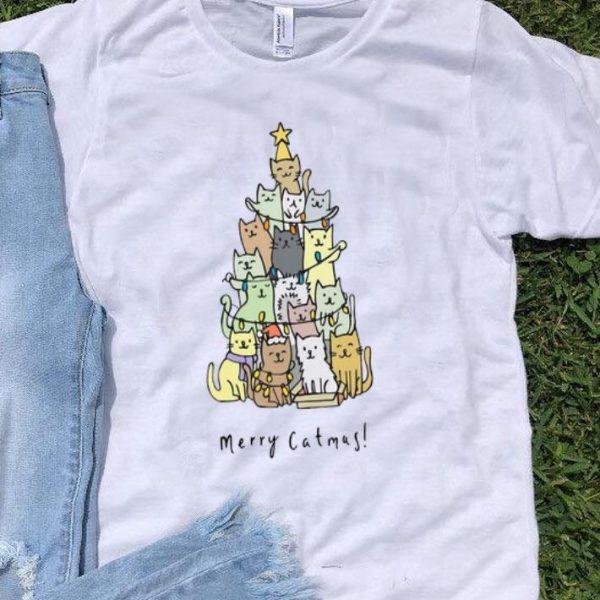 Merry Catmas Cats Christmas Tree shirt