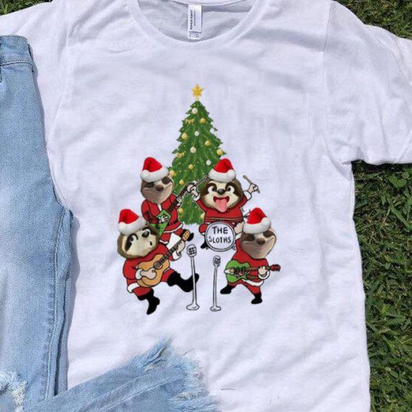 Merry Christmas The Sloths Band Christmas Tree shirt