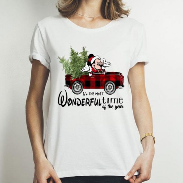 Mickey Mouse It's The Most Wonderful Time Of The Year Christmas shirt