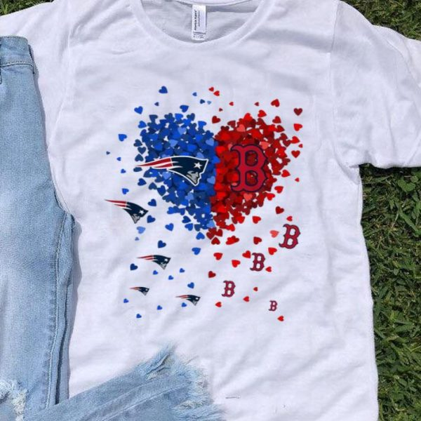 New England Patriots And Boston Red Sox Tiny Heart Shape NFL shirt