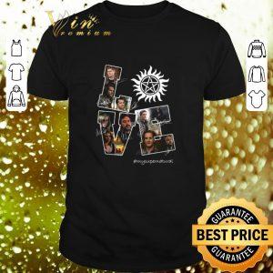 Nice Love Supernatural logo mysupernatural signatures shirt