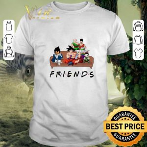 Official Friends Dragon Ball characters shirt