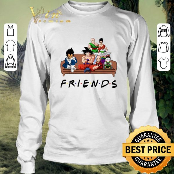 Official Friends Dragon Ball characters shirt