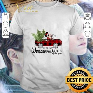 Official Mickey mouse it's the most wonderful time of the year Christmas shirt
