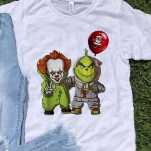 Pennywise And Grinch Santa Balloon Christmas shirt