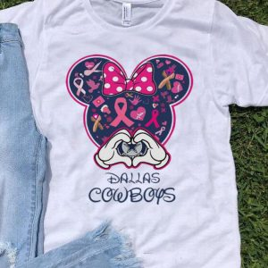 Pink Ribbon Cancer Awareness Minnie Mouse Dallas Cowboys shirt