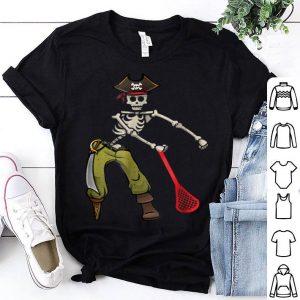 Premium Pirate Skeleton Lacrosse Halloween Floss Dance Kids shirt