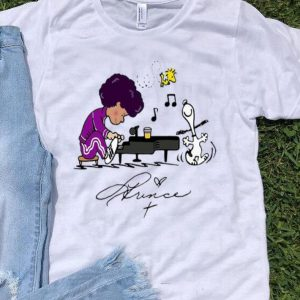 Prince Peanuts Playing Piano Signature shirt