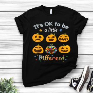 Pumpkin It's Ok To Be A Little Different Halloween Autism shirt
