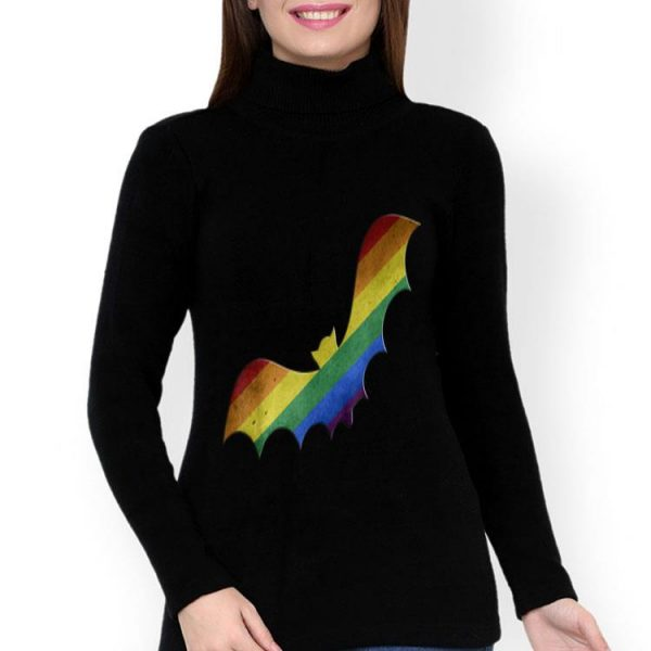 Rainbow Vampire Bat Pride LGBT Halloween shirt
