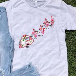 Santa Claus Flamingo Camper Christmas shirt