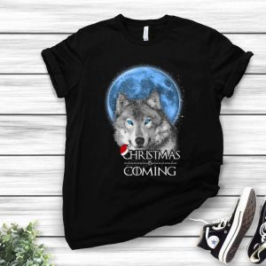 Santa Wolf Christmas Is Coming Merry Xmas shirt