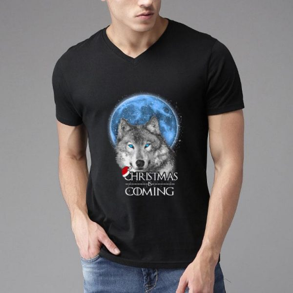 Santa Wolf Christmas Is Coming Merry Xmas shirt