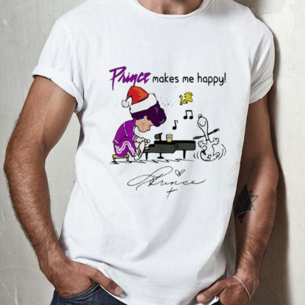 Snoopy And Woodstock Prince Make Me Happy Signature shirt