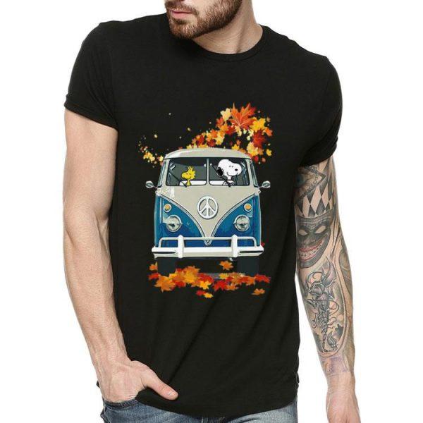 Snoopy And Woodstock VW Volkswagen Hippie Car shirt