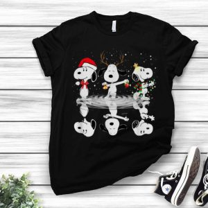 Snoopy Water Reflection Christmas shirt