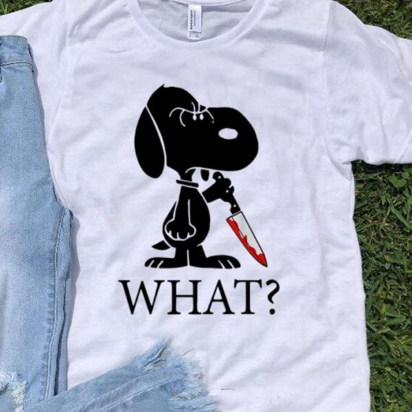 Snoopy What Blood Knife Horror Halloween shirt