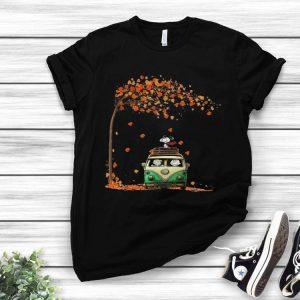 Snoopy With Friends Hippie Car Autumn Leaf shirt