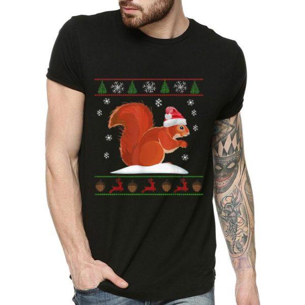 Squirrel Santa's Hat Ugly Christmas shirt