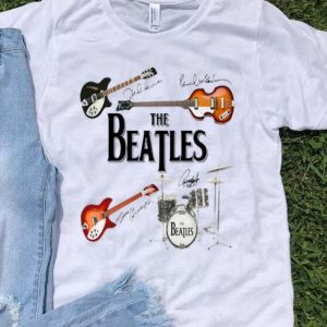 The Beatles Band Guitar And Drum Signatures shirt