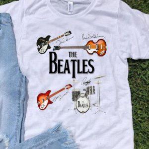 The Beatles Band Guitar And Drum Signatures shirt