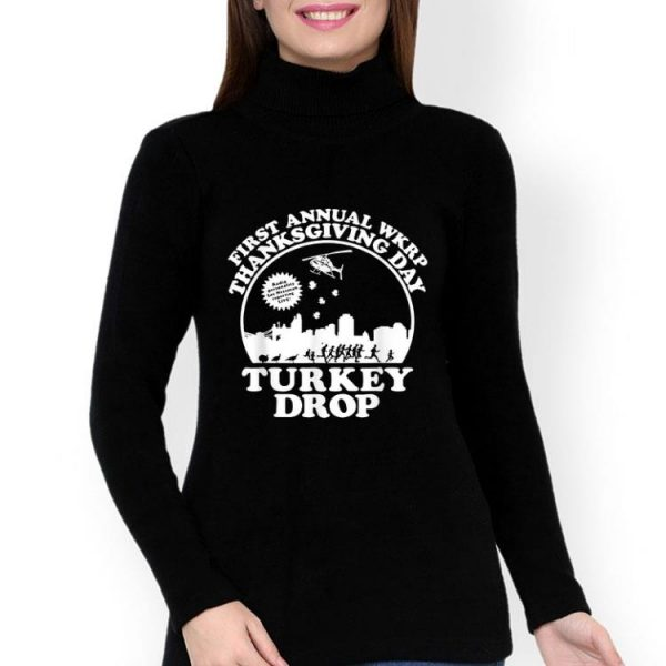 Turkey Thanksgiving Day Wkrp Turkey Drop shirt