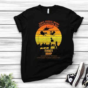 Vintage Sunset 1st Annual Wkrp Thanksgiving Day Turkey Drop shirt