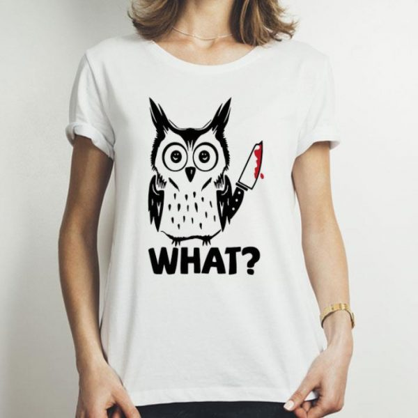 What Owl Michael Myers With Blood Knife shirt
