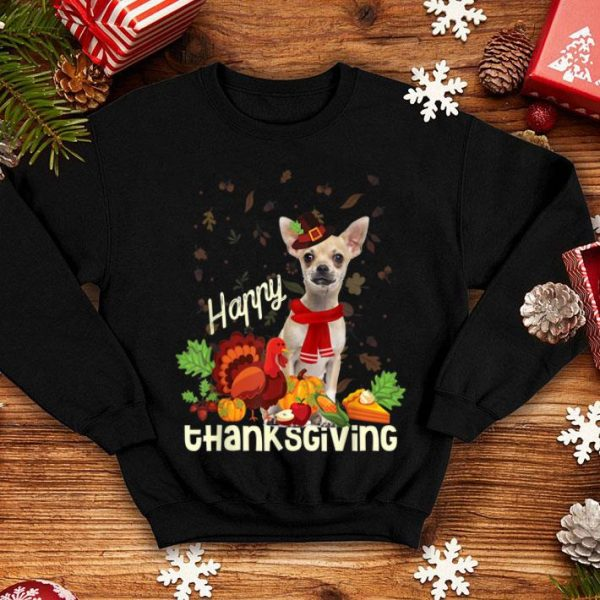 Awesome Happy Thanksgiving Pilgrim Chihuahua Lover Gift shirt