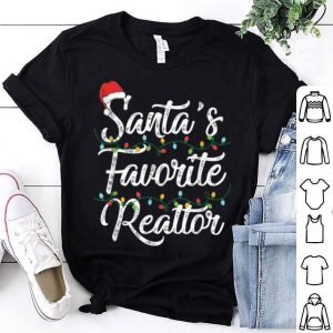 Awesome Santa's Favorite Realtor Christmas Santa Hat Light shirt