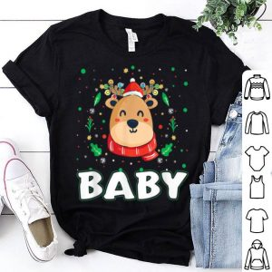 Beautiful Cute Baby Reindeer Santa Ugly Christmas Family Matching shirt