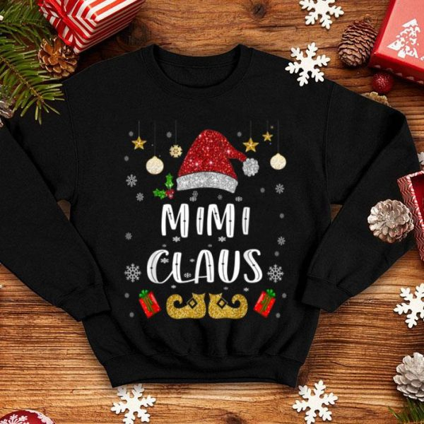 Beautiful Funny Santa Mimi Claus Christmas Family Gifts shirt